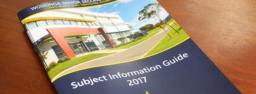 2017 Subject Information Guide